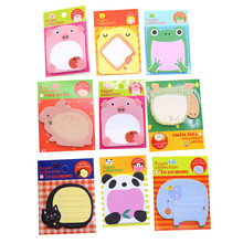 PINGYAOCY Brand Students School Supplies 1pcs Cartoon Convenient Stickers Pink Pig Chicken Elephant Cat Frog Panda Memo Pad(China)
