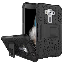 Heavy Duty Armor Holder Stand Case For Asus Zenfone 3 ZE520KL ZE552KL MAX ZC520TL Deluxe Shockproof Absorbing Hard Back Cover(China)