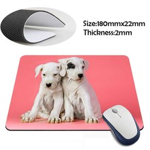 cute white puppies Rubber Soft aming Mouse ames Black Mouse pad