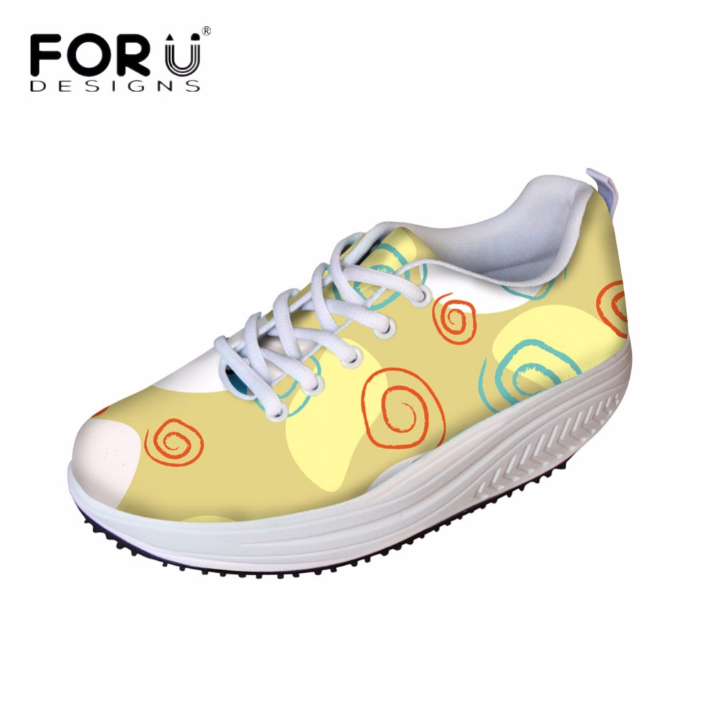 FORUDESIGNS 3D Solid Pattern Women Flats Wedge Shoes Fashion Height Increasing Shoes Shape Ups for Female Swing Shoes Casual   <br>