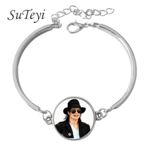SUTEYI 2017 classic Art Photo Personalized Gift Presley Leather Bracelet Essential Series Gift Souvenir Bracelet
