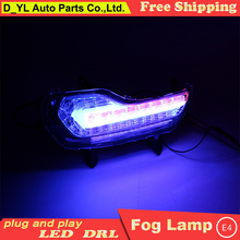 "Car styling For Ford kuga Escape ""C"" model led fog lamps daytime running lights High brightness guide LED DRL with turning light"