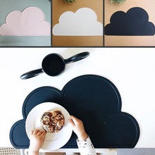47.5*27cm Waterproof Silicone Placemat Bar Mat Baby Kids Cloud Shaped Plate Mat Table Mat Set Home Kitchen Pads