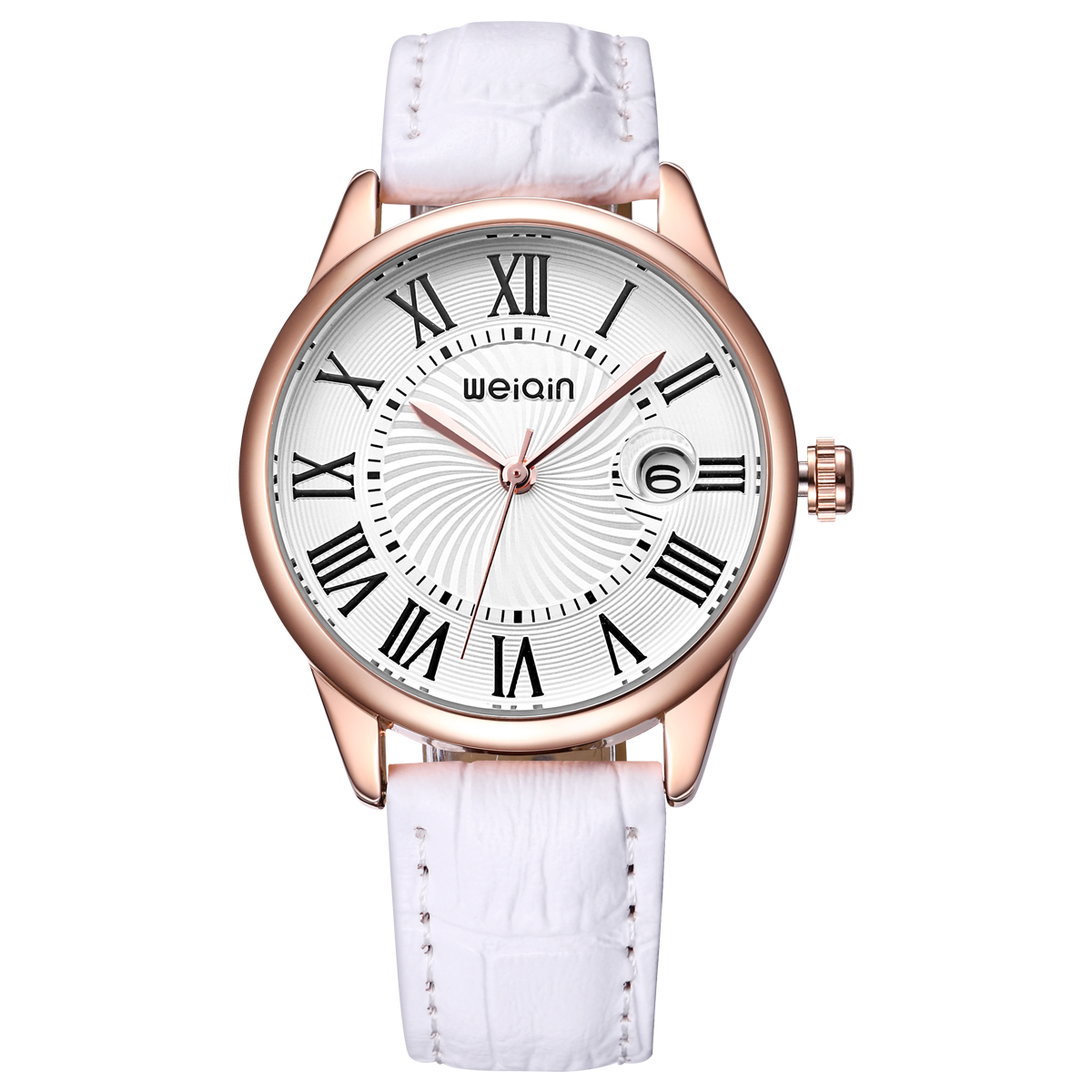 WEIQIN Genuine Leather Strap Luxury Watch Women Magnifying Glass Ladies Wristwatch Fashion Casual Rome Number Watch Relogios<br><br>Aliexpress