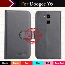 "Factory Direct! Doogee Y6 5.5"" Case 6 Colors Dedicated Ultra-thin Leather Exclusive 100% Special Phone Cover Cases+Tracking"