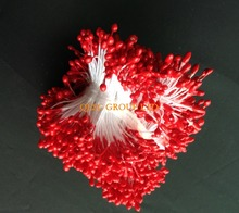 2017 NEW Red 5.5cm Double sided flower stamens for fascinator sinamay hat kentucky derby hat weding accessory.
