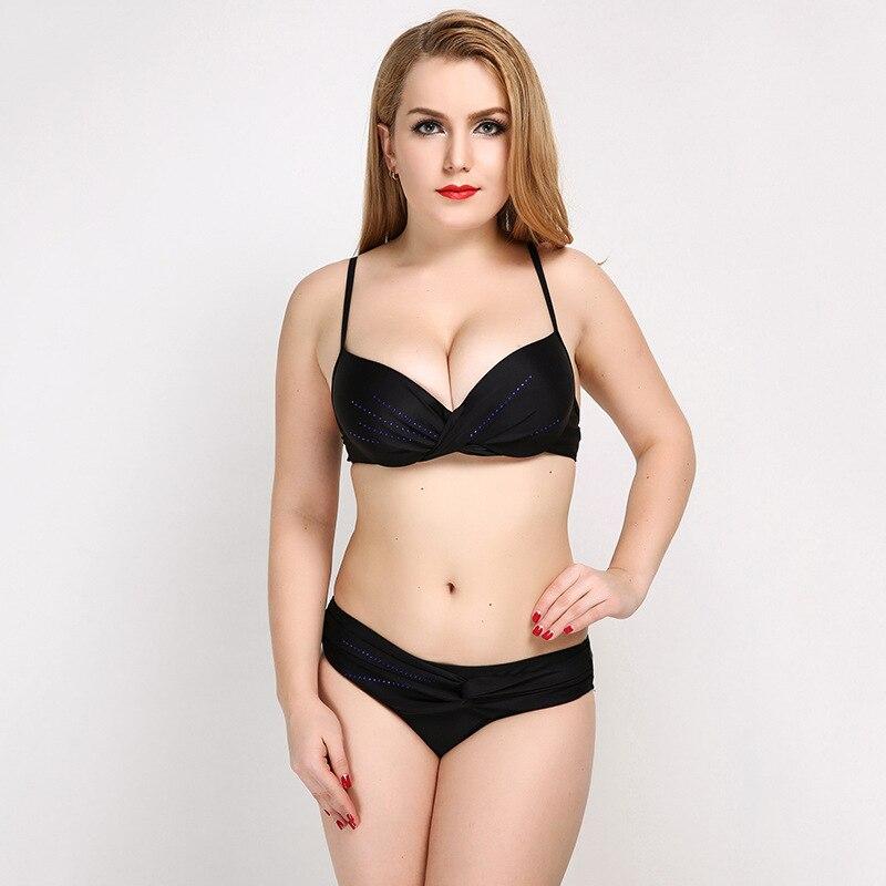 JAONIFER Bikini Plus Size Swimwear Women Push Up Swimming Wading Sports Sexy Backless Womens Swimsuits Bathing Suit Biquini<br>