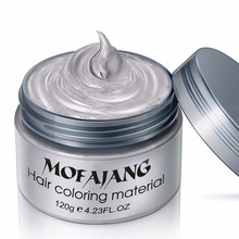Fashion Hair Coloring Material Styling One-Time Hair Wax Disposable Hair Dye Mud Easy To Wash Plants Component(China)