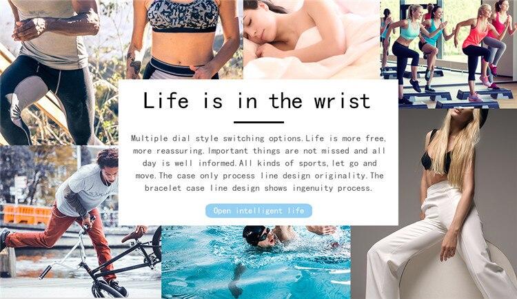 Original C1Plus Smart Bracelet Color Screen Blood Pressure Waterproof Fitness Tracker Heart Rate Monitor pk fitbits miband 3 19