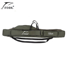 FDDL Folding Fishing Rod Bag Fishing Bags Carrier Canvas Fishing lure Pole Tools backpack Case Fishing real Gear Tackle bag