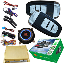 rfid car alarm system with hopping code smart key auto window up output after central lock action engine start stop