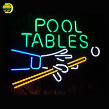Neon Sign POOL TABLE Glass Tubes Neon Bulb Signboard lighted signs custom made neon electronic neon light for sale personalised(China)