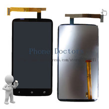 4.7'' Full LCD DIsplay + Touch Screen Digitizer Assembly For HTC One X OneX S720E G23 ( Green Flex cable ) ; Black ; New