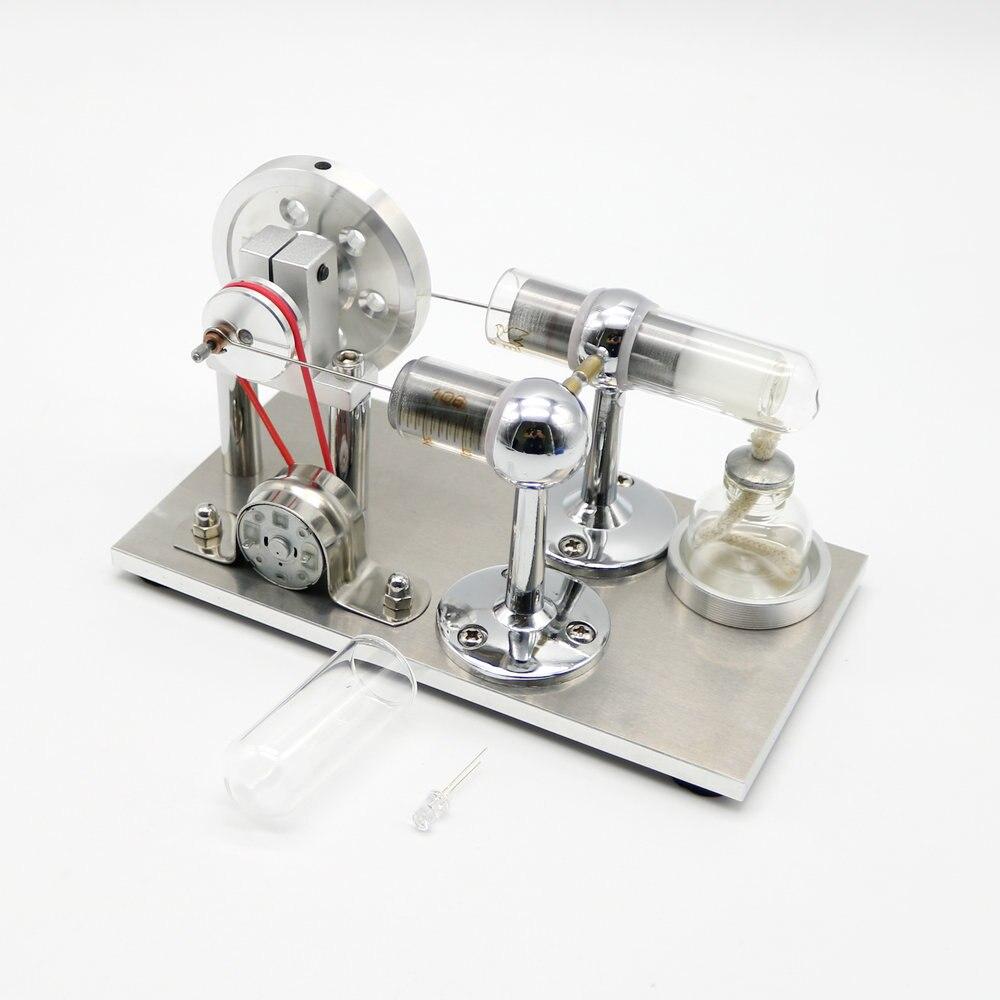 Cool Creative Stirling Engine Motor Electricity Generator LED Educational Model<br>