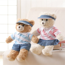 2017 Cute Graduation Teddy Bear Plush Toys Lovely School Uniforms Bear Dolls Lovers Kids Friends Gift 42cm(China)