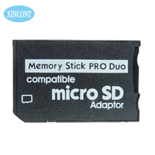 Free shipping Micro SD SDHC TF card to Memory Stick MS Pro Duo Adapter reader for sony camera PSP