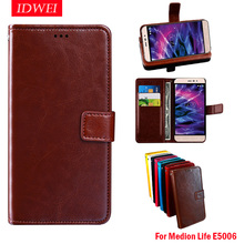 "For Medion Life E5006 case Wallet Flip Leather & Silicone back Skin caso For Medion Life E5006 MD 60227 cover 5"" Business coque"