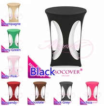 Cocktail table cloth spandex high bar table cover lycra table top cover for wedding banquet and party cocktail table decoration