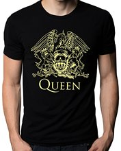 New Men Cotton T-Shirt Mens Shirts Short Sleeve Trend Clothing Queen Band Rock Music Logo Men's T-Shirt