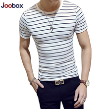 Buy Brand Striped T Shirt Men 2018 Fashion Summer tshirt men Cotton O Neck Short Sleeved Slim Fit Tops Tees shirt homme camisetas for $5.01 in AliExpress store