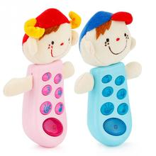 Funny Flip phone toy Baby Learning Study Musical Sound phone Educational Toy Music Rag Doll Baby Child Toys(China)