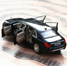 Hot sale High simulation maybach S600 lengthened,1:24 scale alloy  6 open door cars,Collection model,free shipping