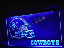 LD317- Dallas Cowboys Helmet NR Bar LED Neon Light Sign home decor shop crafts(China)
