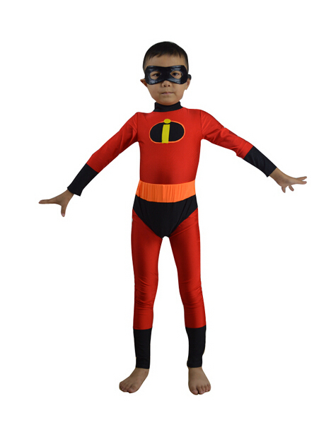 (AL935) Kids The Incredibles Dash Superhero Costume Cosplay Kids Size Lycra And Spandex Zentai Suit Halloween Costume