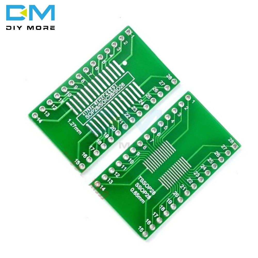 10PCS SOP32 to DIP32 1.27mm 2.54 pitch Interposer PCB Board Adapter Plate DIY