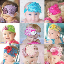 Europe vintage child kids girls head wraps hair elastic bands tiara curly feather headband headwrap hairband floral accessories(China)