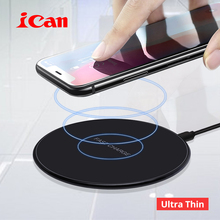 Buy iCan 10W Qi Fast Wireless Charging Pad Samsung Galaxy S9/S8/S8+/S7Edge 7.5W Ultra Thin Wireless Charger iPhone X/8/8Plus for $10.18 in AliExpress store