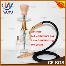 1 set hookah narguile shisha single pipe hose nargile hubbly bubbly waterpipe art glass bong new design hoqqa with bowl tray