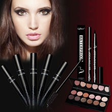 12 Colors Professional Complexion Eyeshadow Palette Makeup Matte Eye Shadow Palette +Eyes Makeup+ Eyes pen + 12pcs brush(China)