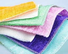 Dishcloths cleaning cloth home cleaner dish towel bamboo fiber washing clothmagic Kitchen cleaning rags 23x18cm Set of 3pcs(China)
