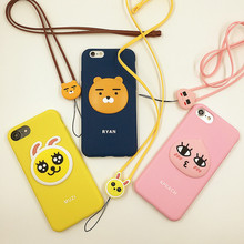 Fashion Korea Cute Cartoon Ryan Muzi Apeach Case For iPhone 6 6s 7 plus Soft Silicon Cover 3D Phone Cases For iPhone 6 6s   C105