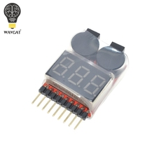 Low Voltage Buzzer Alarm 1-8S Lipo/Li-ion/Fe Battery Voltage 2IN1 Tester Best Selling(China)