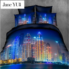 JaneYU Home Textiles 3D Bedding Sets 3D Bedding Sets Elephant Bedding Duvet Cover Set Soft Unique Design Queen Bedding sets