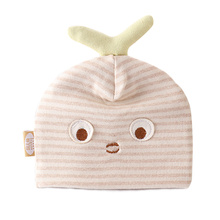 Cat Baby Hat With Ears Organic Cotton Newborn Tire Hat Striped Soft Baby Hat For Sleeping Spring Autumn Beanies For Girls Boys(China)
