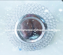 Wholesale dishes clear fancy glass wedding charger plates for hotel and restaurants