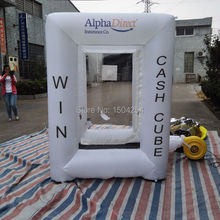 inflatable  square money machine cash machine for speed promotion,advertising logo can be customized inflatable games