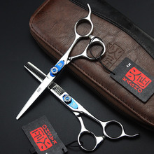 Kasho 6.0 Inch High Quality Hairdressing Scissors Professional Hair Cutting Thinning Scissors Barber Shears Equipment Salon Tool