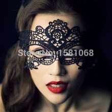 1PCS Hot Sales Black Sexy Lady Lace Mask Eye Mask For Masquerade Party Fancy Dress Costume / Halloween Party Fancy(China)