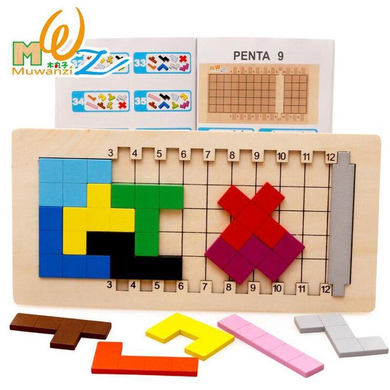 Wooden Blocks Mystery Develop Children Logic Ability Toy Tetris Style Educational Wood Toy<br><br>Aliexpress