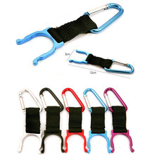 6PC Multi-Color Practical Outdoor Sports Camping Hiking Survival Traveling Key Carabiner Water Bottle Hook Holder Clip(China)