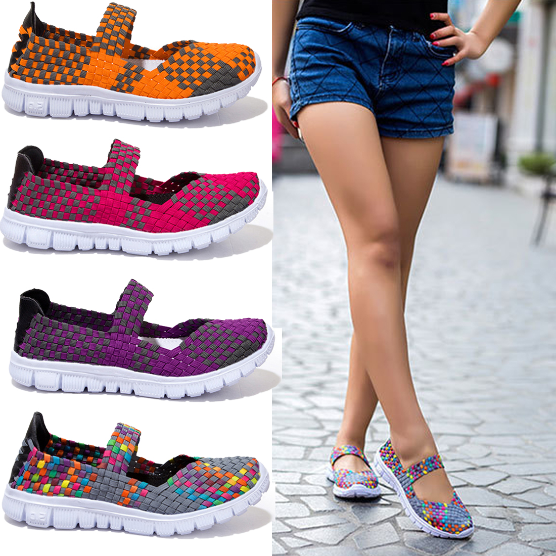 2017 spring breathable women fashion flats Shoes light flat loafer shoes Cheap Walking flats weave shoes for women <br><br>Aliexpress