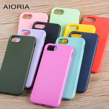AIORIA Matt case for iPhone 7 silicone TPU material 1.2mm bright colors covers fundas coque for iphone 7 plus 8 Plus 6 6S(China)
