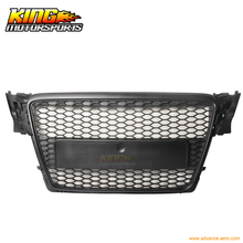 Fit For 09 10 Audi A4 B8 Front ABS Mesh RS Style Hood Grille Grill Black 09 10 USA Domestic Free Shipping Hot Selling