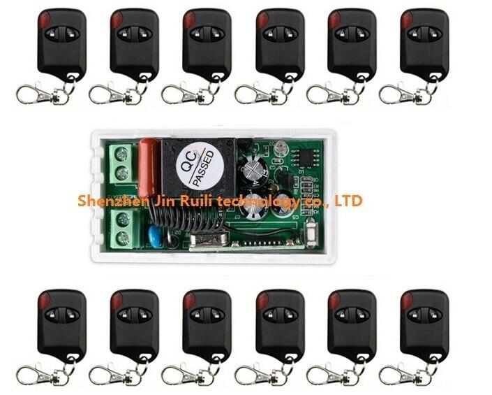 AC220V 10A 1CH 315MHz/433MHZ Wireless RF Remote Control Switch 12*cat eye Transmitter+1*Receiver for Appliances Gate Garage Door<br>