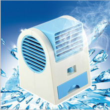 Mini USB Fan Portable Electric Fans LED Portable Desktop Fan Cooling air conditioner portable fan has a battery