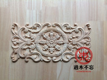Don't forget the wooden Dongyang Wood Carving Wood Window Decal Decals European Style Fireplace decoration central door flower b